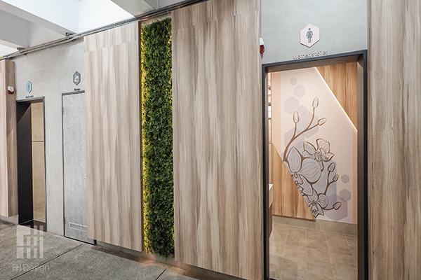 中原大學理學院二樓廁所 - 竹蘭。藝